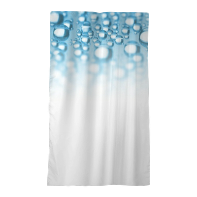 Abstract Border Of Blue Water Drops Sheer Window Curtain Pixers We Live To Change