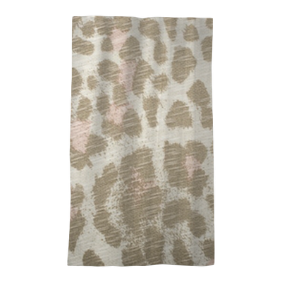 Brown And Pink Leopard Pattern Animal Print As Background