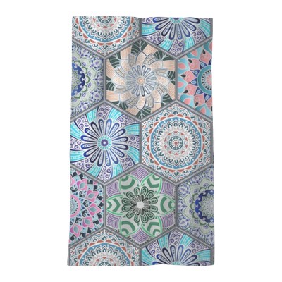 Oriental Seamless Pattern In Style Of Colorful Floral