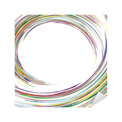 Abstract rainbow curved lines colorful background Sticker ...