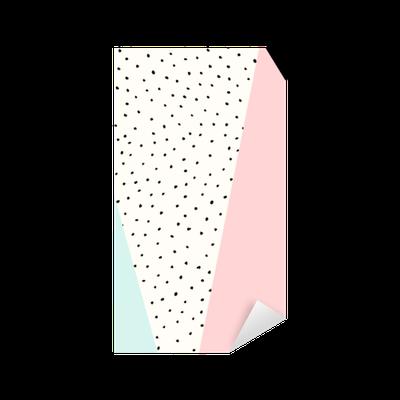 Abstraction, triangles, points, vert, rose, blanc, noir Pixerstick Sticker