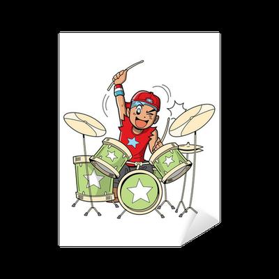 Anime Manga Drummer Sticker Pixers We Live To Change