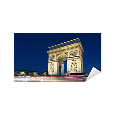 arc de triomphe and car lights sticker pixers we live to change. Black Bedroom Furniture Sets. Home Design Ideas