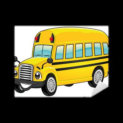 Sticker autobus scolaire dr le vecteur de dessin anim - Autobus scolaire dessin ...