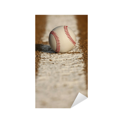 Baseball on the Chalk Line Sticker • Pixers® • We live to ...