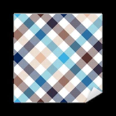 sticker bleu beige contr le diagonal seamless texture tissu pixers nous vivons pour changer. Black Bedroom Furniture Sets. Home Design Ideas