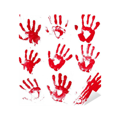 Bloody Hands Sticker • Pixers® • We live to change