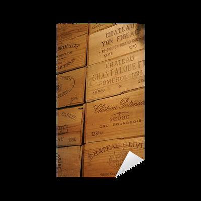 sticker bo tes vin wine box bo te en bois pixers nous vivons pour changer. Black Bedroom Furniture Sets. Home Design Ideas