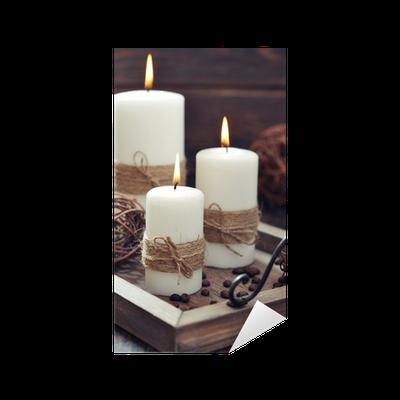 sticker bougies sur plateau vintage pixers nous vivons pour changer. Black Bedroom Furniture Sets. Home Design Ideas