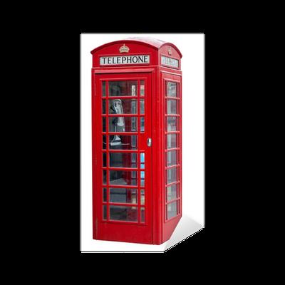 sticker cabine t l phonique rouge londres isol sur. Black Bedroom Furniture Sets. Home Design Ideas