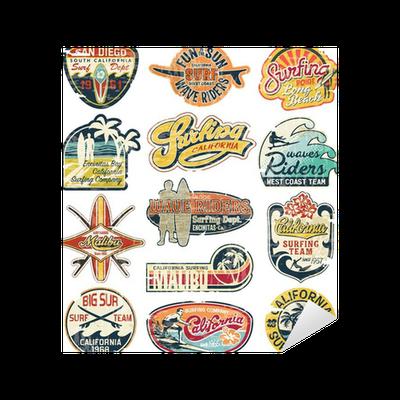 California Vintage Stickers Grunge Collection Sticker