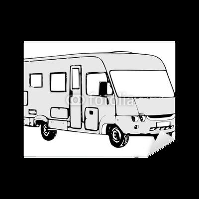 sticker camping car int gral pixers nous vivons pour changer. Black Bedroom Furniture Sets. Home Design Ideas