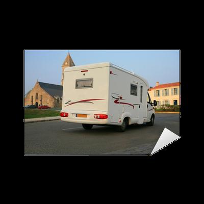 sticker camping car pixers nous vivons pour changer. Black Bedroom Furniture Sets. Home Design Ideas