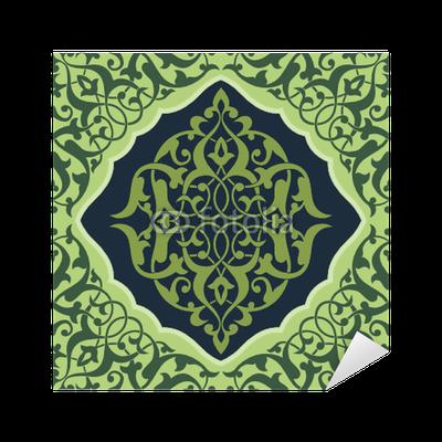 sticker carrelage arabesque vert1 pixers nous vivons pour changer. Black Bedroom Furniture Sets. Home Design Ideas