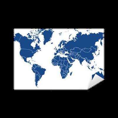 sticker carte du monde 02072015 pixers nous vivons pour changer. Black Bedroom Furniture Sets. Home Design Ideas