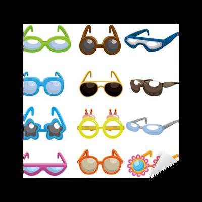 8ea72f3b8191 cartoon Sunglasses set icon Sticker • Pixers® • We live to change