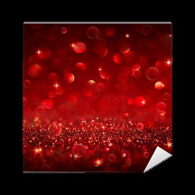 Christmas Background Shining Red Glitter Sticker