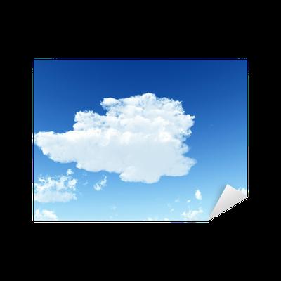 sticker ciel bleu avec des nuages blancs illustration num rique pixers nous vivons pour. Black Bedroom Furniture Sets. Home Design Ideas