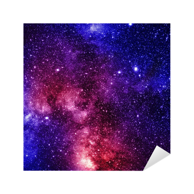 Deep outer space pixerstick sticker