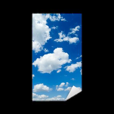sticker des nuages blancs dans le ciel bleu cloudscape pixers nous vivons pour changer. Black Bedroom Furniture Sets. Home Design Ideas