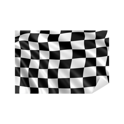 sticker drapeau damier noir et blanc formule 1 pixers nous vivons pour changer. Black Bedroom Furniture Sets. Home Design Ideas