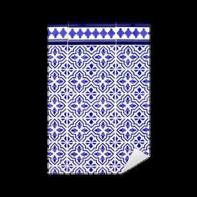 sticker espagnol carreaux de c ramique bleu de style andalou pixers nous vivons pour changer. Black Bedroom Furniture Sets. Home Design Ideas