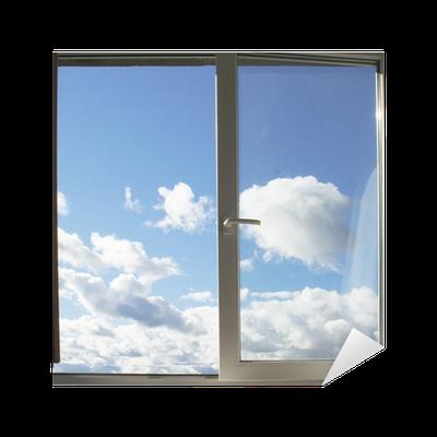 sticker fen tre et les nuages pixers nous vivons pour changer. Black Bedroom Furniture Sets. Home Design Ideas
