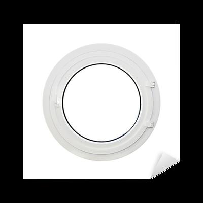 sticker fen tre ronde hublot fond blanc pixers nous vivons pour changer. Black Bedroom Furniture Sets. Home Design Ideas