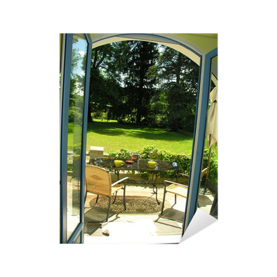 sticker fenetre sur jardin pixers nous vivons pour changer. Black Bedroom Furniture Sets. Home Design Ideas