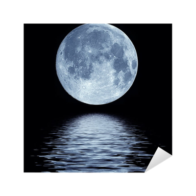 Full Moon Over Water Sticker Pixers 174 We Live To Change
