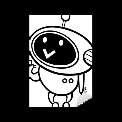 Kleurplaten Robots Afdrukken.Sticker Kawaiibeeldverhaal Robot Kleurplaten Pixers We Leven Om Te Veranderen