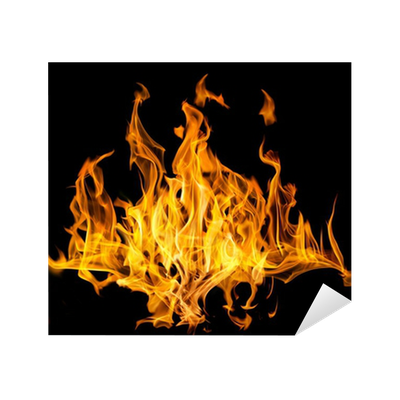 lot of yellow fire sparks on black Sticker • Pixers® - We ...