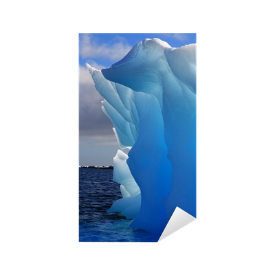 sticker magnifique iceberg presque transparente dans l 39 antarctique pixers nous vivons pour. Black Bedroom Furniture Sets. Home Design Ideas