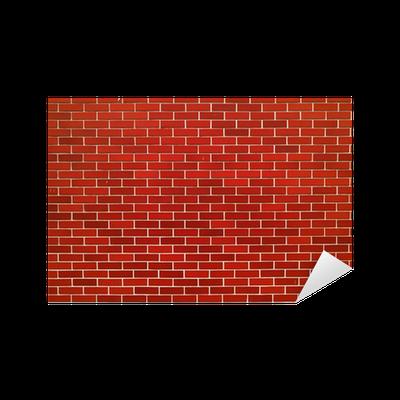 sticker moderne mur de brique rouge pixers nous. Black Bedroom Furniture Sets. Home Design Ideas