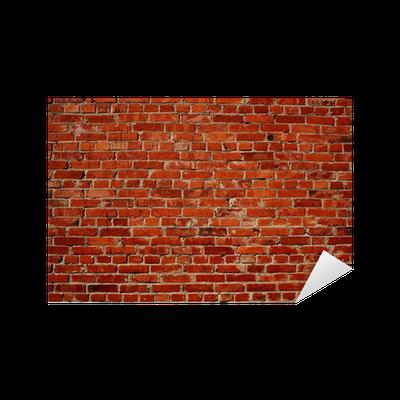 sticker mur brique rouge pixers nous vivons pour changer. Black Bedroom Furniture Sets. Home Design Ideas