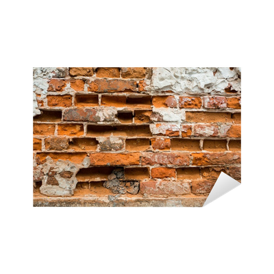 sticker mur de briques cass es pixers nous vivons pour changer. Black Bedroom Furniture Sets. Home Design Ideas