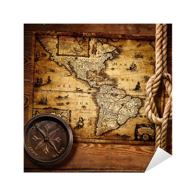 Old Compass And Vintage Maps Sticker O PixersR We Live To Change