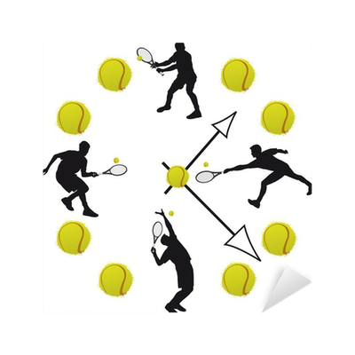 Orologio tennis sticker pixers we live to change for Orologio stickers