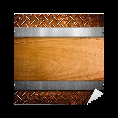 sticker planche de bois avec charpente m tallique pixers nous vivons pour changer. Black Bedroom Furniture Sets. Home Design Ideas