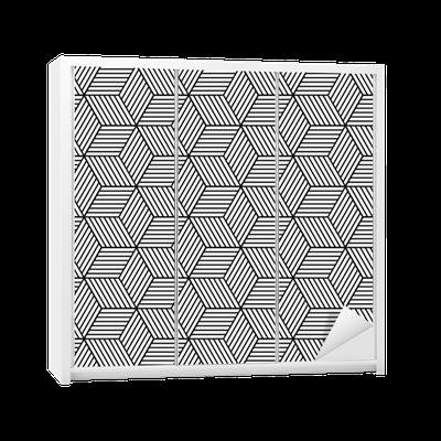 sticker pour armoire seamless g om trique avec des cubes. Black Bedroom Furniture Sets. Home Design Ideas
