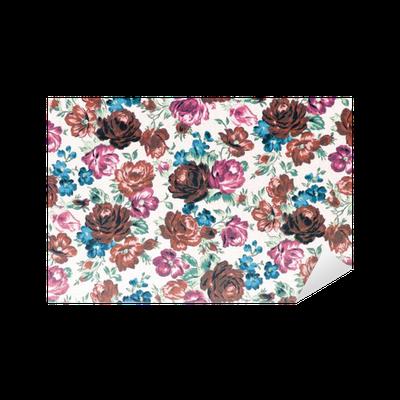 sticker rose tissu fond effet de couleur cru pixers nous vivons pour changer. Black Bedroom Furniture Sets. Home Design Ideas