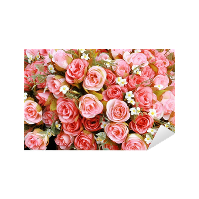 sticker rose tissu rose pixers nous vivons pour changer. Black Bedroom Furniture Sets. Home Design Ideas