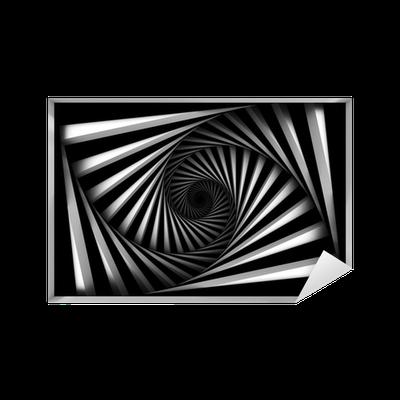 Sticker spiral noir et blanc pixers nous vivons pour changer - Stickers muraux noir et blanc ...