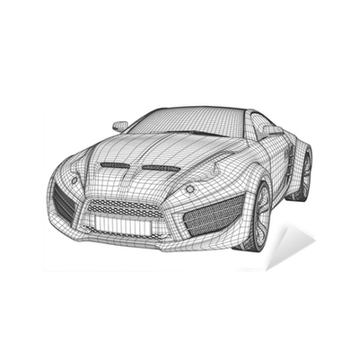 Sports car blueprint non branded concept car sticker pixers sports car blueprint non branded concept car sticker pixers we live to change malvernweather Images