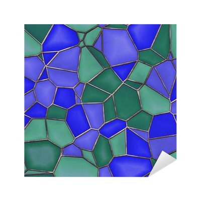 Stained Glass Seamless Texture Tile Sticker • Pixers® - We ...