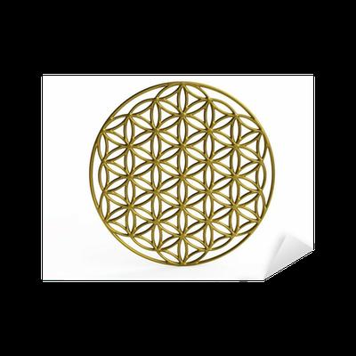 Sticker symbole sacr fleur de la vie en 3d pixers nous vivons pour changer - Symbole de la vie ...