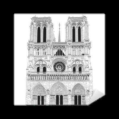 Vector Image Of Notre Dame De Paris Sticker Pixers 174 We