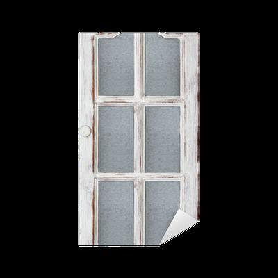 Sticker vieille porte blanc pixers nous vivons pour for Stickers porte blanc