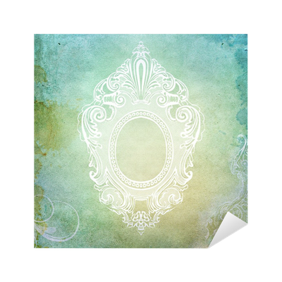 Vintage Shabby Chic Background With Frame Sticker O PixersR We Live To Change