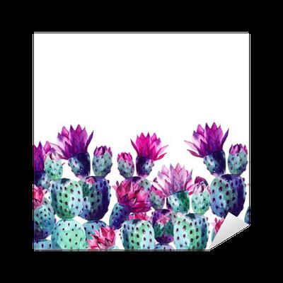 Watercolor Cactus Sticker Pixers 174 We Live To Change